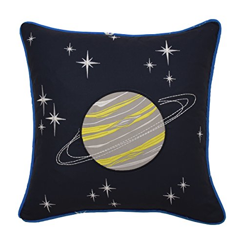 WAVERLY Kids Space Adventure Embroidered Decorative Accessory Pillow, 15 x 15, Multicolor