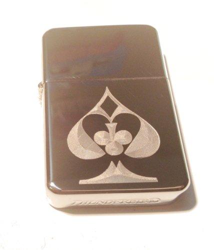 Vector KGM Thunderbird Custom Lighter - ACE Clubs, Diamond Spade ALL Suits Cards Gambling Gamble Poker Logo High Polish Chrome Rare! (Lighter Cards Chrome High Polish)