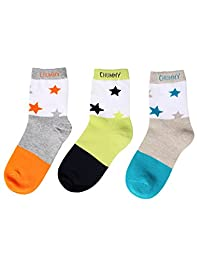 ChummyChummy Kids Boys Cotton Crew Socks 3 Pairs Pack \