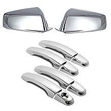 EZ MOTORING 10-17 GMC Terrain/Chevy Equinox Chrome Mirror Cover + 4 Door Handle Covers