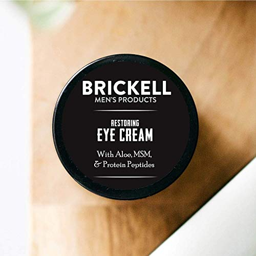 Brickell Men's Restoring Eye Cream for Men, Natural and Organic Anti Aging Eye Balm To Reduce Puffiness, Wrinkles, Dark Circles, Crows Feet and Under Eye Bags, .5 Ounce, Unscented 4