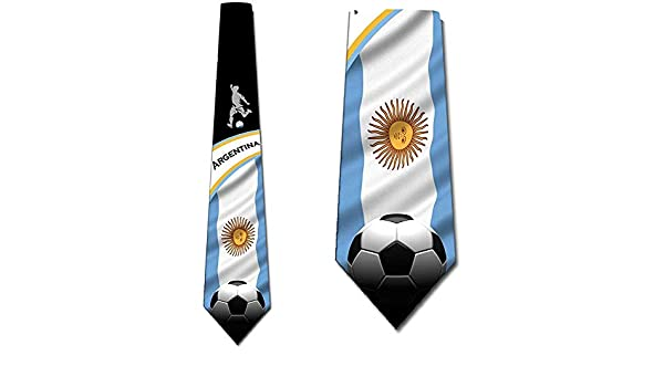 Corbata Corbatas De Fútbol Corbata Argentina Para Hombre Corbatas ...