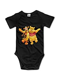 Baby Boys Girls Tigger And Winnie The Pooh Funny Jumpsuit Bodysuits
