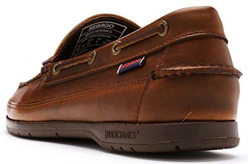 Ketch Hombre Total Sebago Leather Waxed Náuticos para Brown Oily UAxnndTqZw