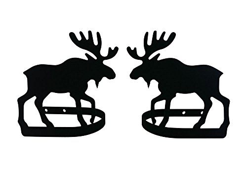 (Wrought Iron Moose Tie Backs 5 In. W x 5 In. H)