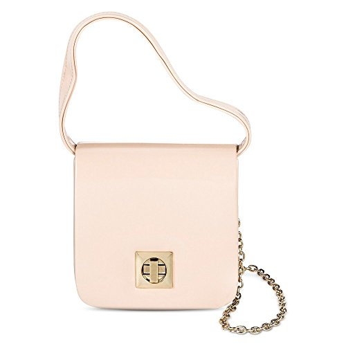 Tevolio Women's Patent Leather Crossbody Handbag (Nude) (Nude)