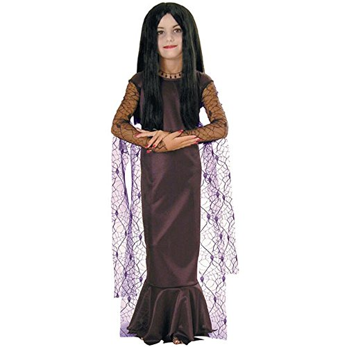 [Kid's Addams Family Morticia Costume (Size:SM 4-6)] (The Addams Family Wednesday Costumes)