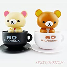 SpeedMotion, Multi-Set Solar Power Toy Dancing Cute Figurine Bobble Head for Home and Car Decor Gift - USA Seller (2 Cute Panda on The Glass)