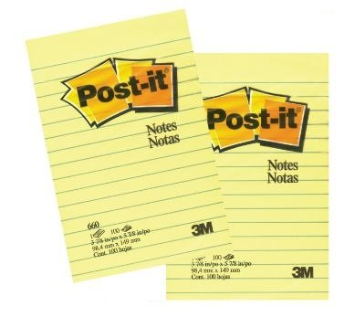 Original Pads in Canary Yellow, Lined, 4 x 6, 100-Sheet, Pack of 2 ()