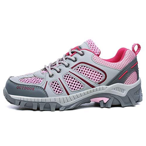 Rosa Adultos Casuales Parejas Unisex Zapatillas para Transpirable Primavera Malla Zapatos Verano Z4Z5wxzSqv