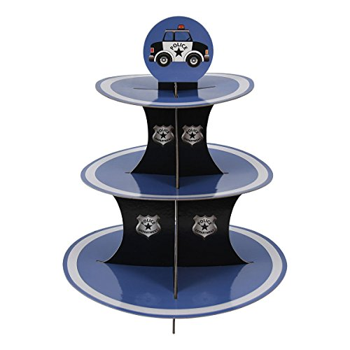 Police Party Cupcake Stand Pick Kit Supplies Decorations Birthdays Cake
