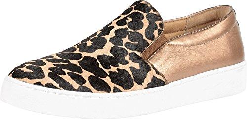 Vionic Womens Midi Loafer Tan Leopard Size 8.5