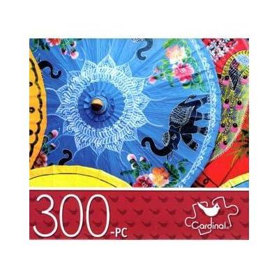 Paper Parasols - 300 Piece Jigsaw Puzzle: Toys & Games