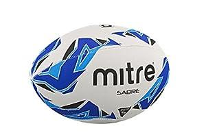 Mitre Rugby-trainingsball Sabre, Weiß/Blau/Cyan, 5, BB1157