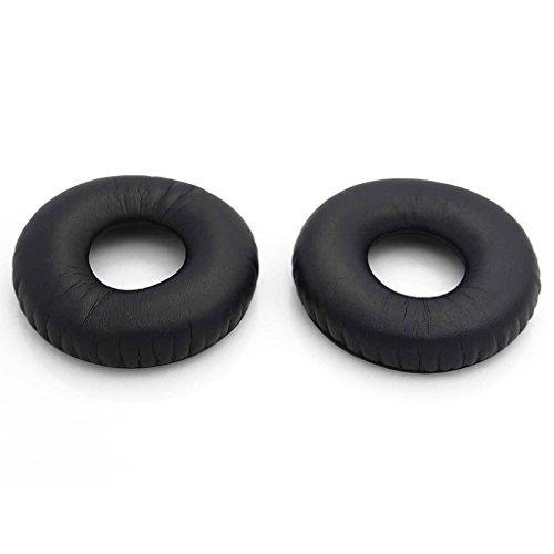 iParaAiluRy New Oreillettes de remplacement Ear Pads Coussins pour Sennheiser HD25 HD 25 HD25-1 PC150 PC151 PC155 casque 65mm /éponge /élastique et cuir PU Noir