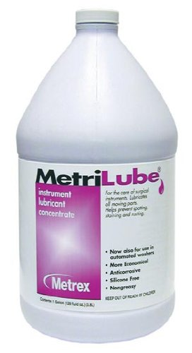Metrex 10-3400 MetriLube Instrument Lubricant Concentrate, 1 gal Capacity