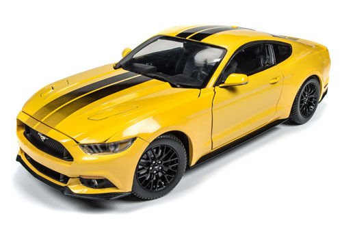 2016 Ford Mustang Gt 5.0 Triple Yellow Limited Edition to 1002pcs 1/18 by Autoworld AW229 -  AUTO WORLD
