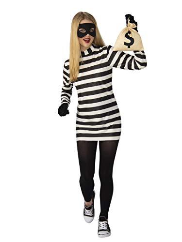 Lady Law Costumes - Rubie's Burglar Womens Costume