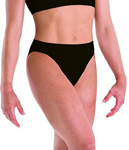 Motionwear Gymnastics Underwears Brief, Black, Small - Gymnastics Briefs