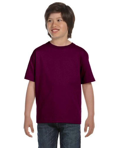 Gildan Dryblend Youth T-Shirt, Maroon, Medium