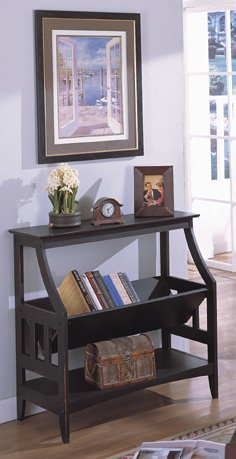 Antique Finish Bookshelf/ Magazine Table