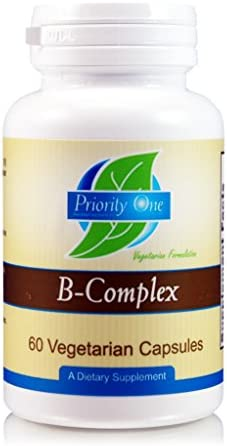 Priority One Vitamins B Complex 60 Vegetarian Capsules – Energy Complex – Mood Support