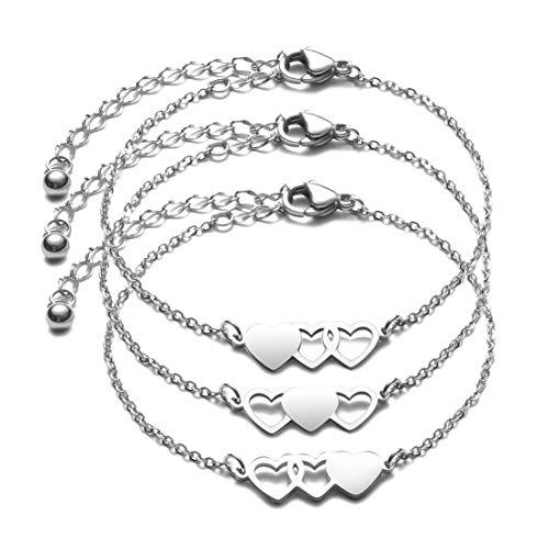 JINGMARUO 3 Sisters Bracelet Best Friend Bracelet