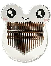 KOqwez33 Piano de pulgar, Mini Kalimba Instrumentos Musicales, Kalimba Forma de Animal Instrumento Acústico Acrílico 17 Teclas Mini Pulgar Dedo Piano Regalos de San Valentín para el Principiante - A