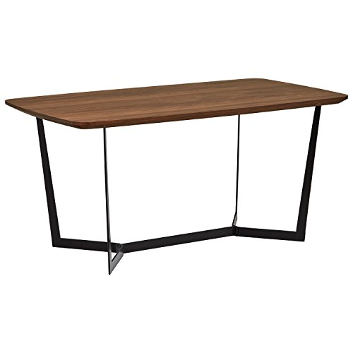 Rivet Modern Industrial Pedestal Dining Room Table, 63