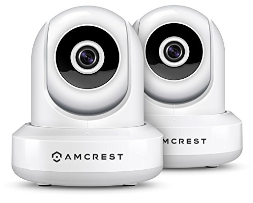 2-Pack Amcrest ProHD 1080P WiFi/Wireless IP Security Camera IP2M-841 Pan/Tilt, 2-Way Audio, Optional Cloud Recording, Full HD 1080P 2MP, Super Wide 90