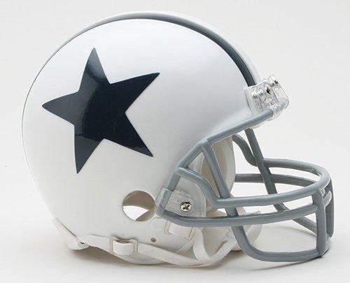 (Dallas Cowboys White Throwback Thanksgiving Day Riddell Mini Football Helmet - New in Riddell Box)