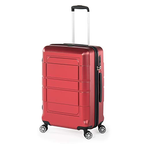 Compaclite Venice 24 inch/Strong Lightweight Luggage, Red
