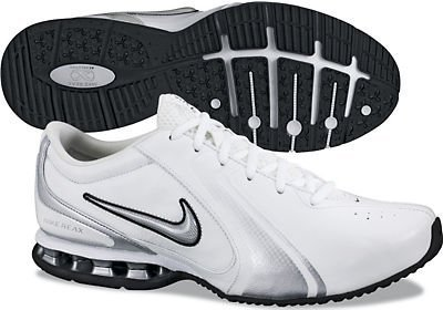Nike Men's Reax Trainer III Synthetic Leather Training Shoe White/Metallic Silver Size 13 M US