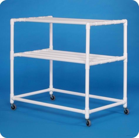 Drying Rack - DR120WC - with Four 3'' Non-Locking Casters by Innovative Products Unlimited