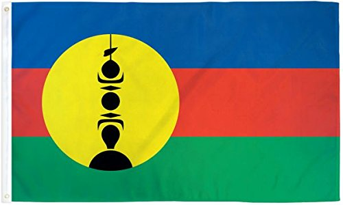 3x5 New Caledonia Polyester Flag 3'x5 Super Polyester Nylon Fade Resistant Double Stitched Premium Penant House Banner Grommets - Caledonia Flag New