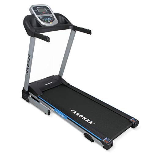 Akonza Heavy Duty Foldable LCD Display Power Electric Running Fitness Treadmill w MP3 Phone and 2 Cup Holders