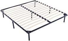vevor wood slat bed frame king size bed frame 14 inch metal platform bed