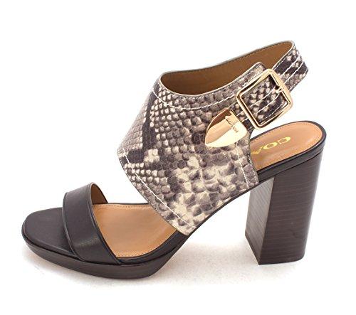 Chaussures Betsy Ouverte À Bout Ouvert Sandales À Bride Arrière Noir / Naturel