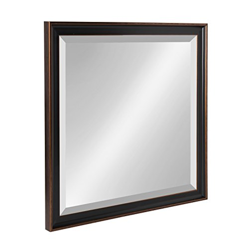 Kate and Laurel Havana 22.5x22.5 Framed Beveled Wall Mirror, Oil Rubbed Bronze