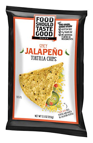- Food Should Taste Good, Tortilla Chips, Jalapeno, Gluten Free Chips, 5.5 Ounce