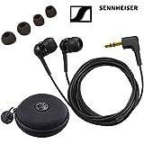 Sennheiser IE 4 Earphones with a SLAPPA SL-HP-09 HardBody Earbud Case (Black)