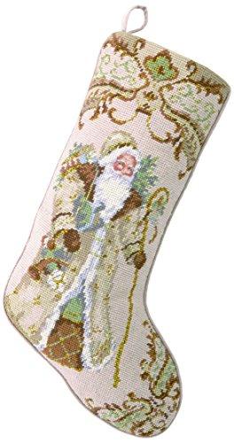 Peking Handicraft 31SJM2029MC Santa with Gifts Needlepoint Stocking, 11x18