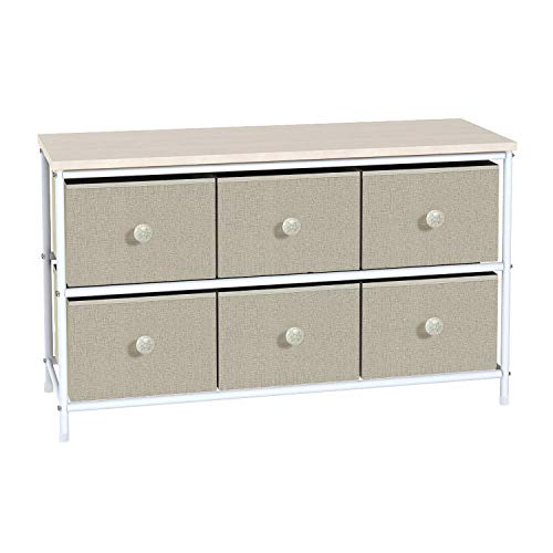 HOME BI Wide Drawer Storage Dresser, Entertainment Unit Center Cabinet, Storage Organizer Unit for Bedroom, Living Room, Office, Entryway (Home Entertainment Storage)