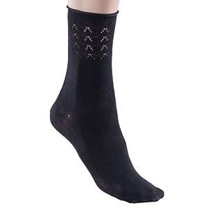 Womens Gladiolo Cotton Dress Socks, Soft, Chevron Knit, 75% Cotton