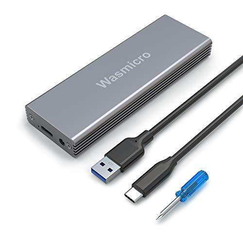 Wasmicro SSD Enclosure USB C & 3.0 Portable Adapter Case for Apple SSD of MacBook Air Mid 2013-2017, MacBook Pro Retina Late 2013 - Mid 2015, iMac Late 2013-2017, 2013 Mac Pro, 2014 Mac Mini