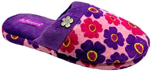 DE FONSECA ciabatte pantofole invernali da donna mod. ROMA TOP W228 rosa