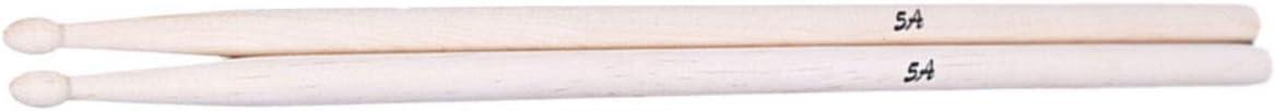 2Pcs 5A B/âtons d/érable pour les Adultes les Enfants D/ébutants de la pratique Couleur du Bois Baguettes