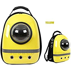 Pet Bag Cat Dog Carrier Spaceship Bag Backpack Yellow