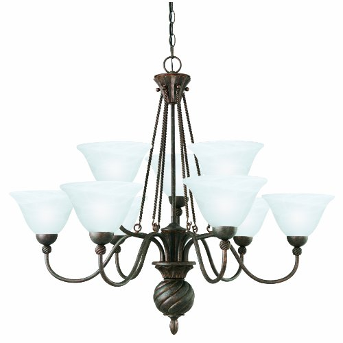 Thomas Lighting SL819323 Cambridge Chandelier, Colonial Bronze