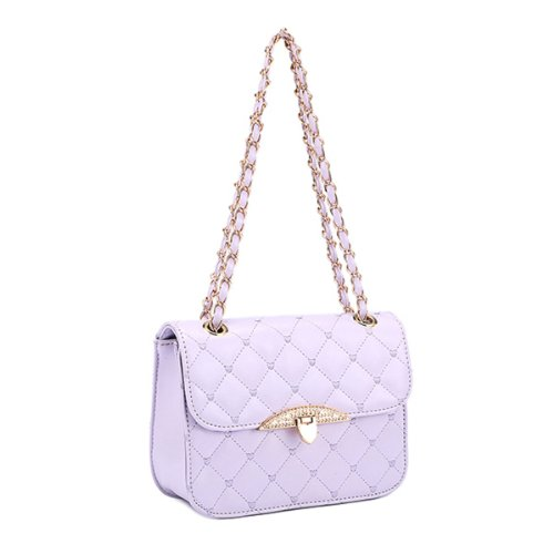 Donalworld Quilted Crossbody Purse Chain Strap Shoulder Bag Travel Wallet - Wallet Quilted Heart